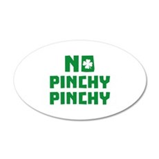 No Pinchy Pinchy 22x14 Oval Wall Peel