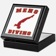Red Men's Diving Logo Keepsake Box