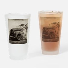 Burnout Pit Truck Drinking Glass