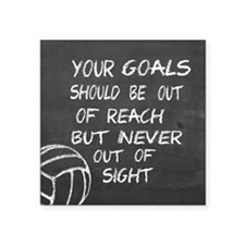 Your goals volleyball motivational Sticker