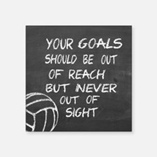 Your goals volleyball motivational Sticker