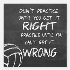 """Practice volleyball moti Square Car Magnet 3"""" x 3"""""""