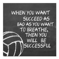 """Successful volleyball mo Square Car Magnet 3"""" x 3"""""""