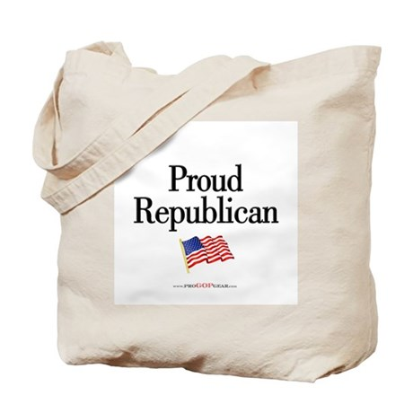 """""""Proud Republican"""" Tote Bag"""