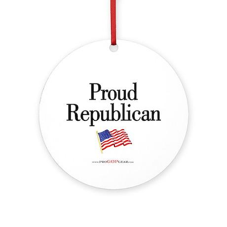"""Proud Republican"" Round Ornament"
