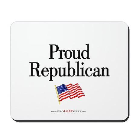 """Proud Republican"" Mousepad"
