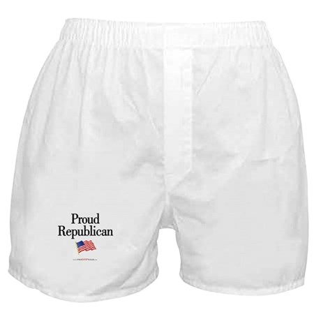 """""""Proud Republican"""" Boxer Shorts"""