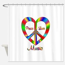 Music Peace Love Shower Curtain