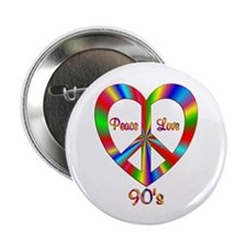 "90s Peace Love 2.25"" Button"