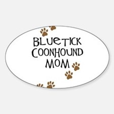 Bluetick Coonhound Mom Oval Decal