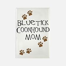 Bluetick Coonhound Mom Rectangle Magnet