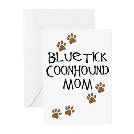 Bluetick Coonhound Mom Greeting Cards (Pk of 10)