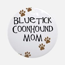 Bluetick Coonhound Mom Ornament (Round)