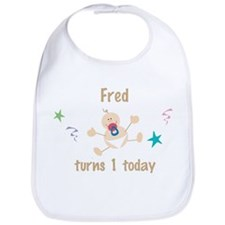 Fred turns 1 today Bib