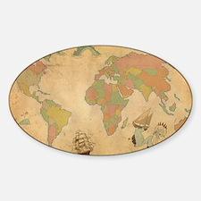 Ancient Mythology World Map Decal