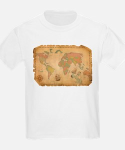 Ancient Mythology World Map T-Shirt