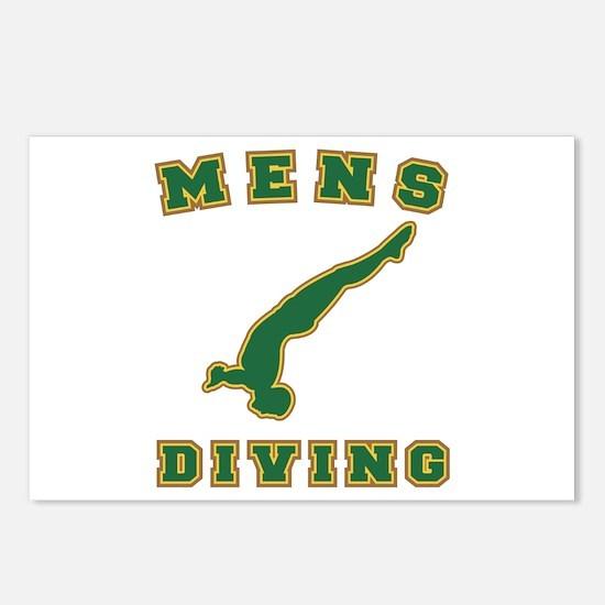 Green Men's Diving Logo Postcards (Package of 8)