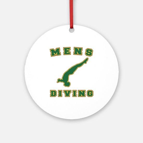 Green Men's Diving Logo Ornament (Round)