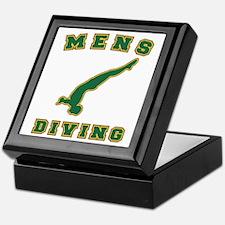 Green Men's Diving Logo Keepsake Box
