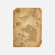 Ancient Mythology World Map 5'x7'Area Rug