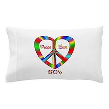 80s Peace Love Pillow Case
