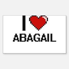 I Love Abagail Decal