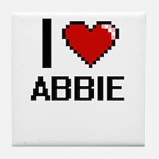 I Love Abbie Tile Coaster