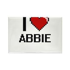 I Love Abbie Magnets