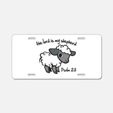 The Lord is my Shepherd Aluminum License Plate
