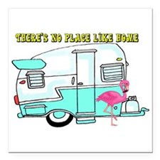 """There's No Place Like Home Square Car Magnet 3"""" x"""