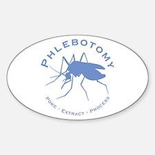 Phlebotomy / Poke Sticker (Oval)