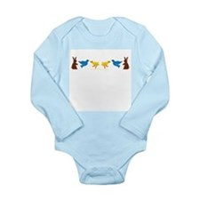 Cute Easter bunny Long Sleeve Infant Bodysuit