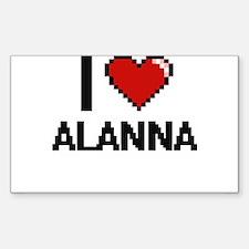 I Love Alanna Decal