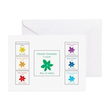 All Is Well Chakra Flowe Greeting Cards (Pk of 20)