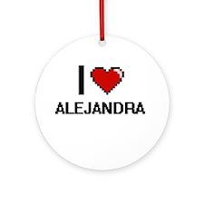 I Love Alejandra Ornament (Round)