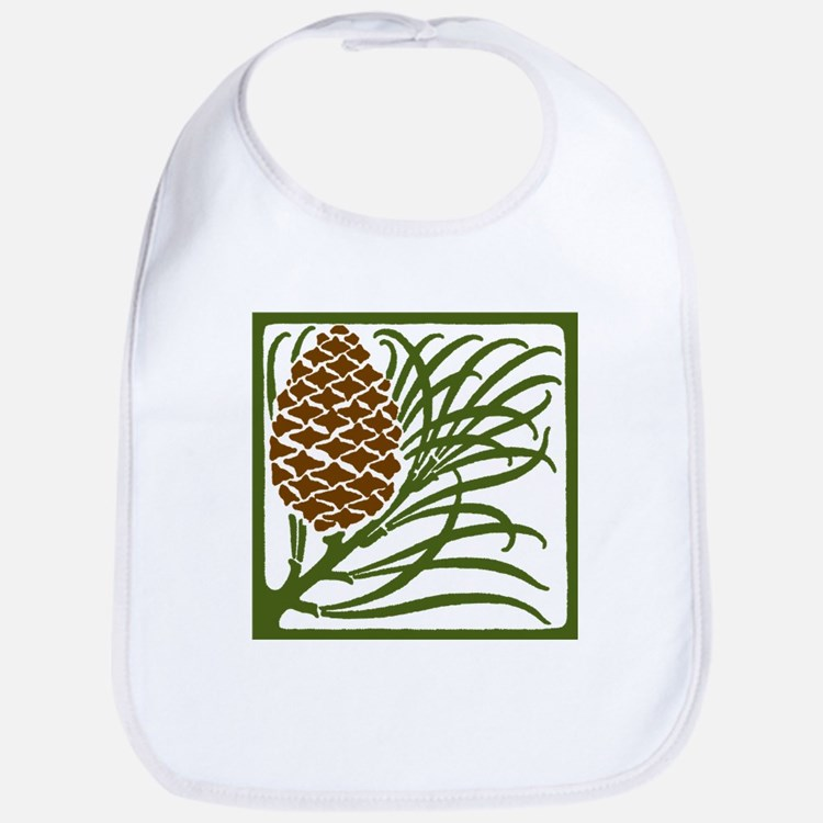 Giant Pine Cone Color Bib