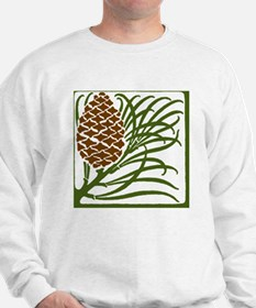 Giant Pine Cone Color Sweatshirt