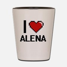 I Love Alena Shot Glass