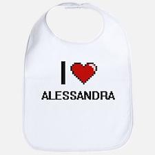 I Love Alessandra Bib