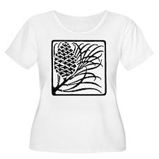 Giant Pine Cone Black Plus Size T-Shirt