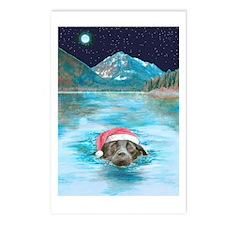 Christmas swim Postcards (Package of 8)