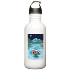 Christmas swim Water Bottle