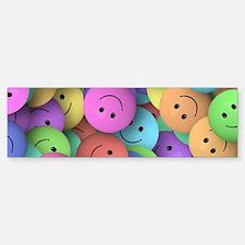 rainbow happy faces art Bumper Bumper Bumper Sticker
