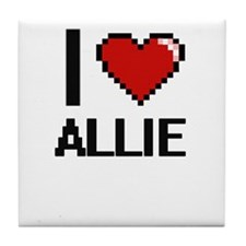 I Love Allie Tile Coaster