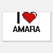 I Love Amara Decal