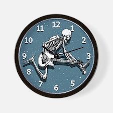 Cute Guitarist skull Wall Clock