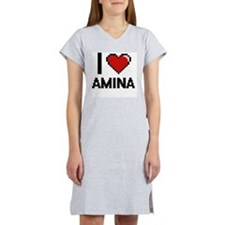 I Love Amina Women's Nightshirt