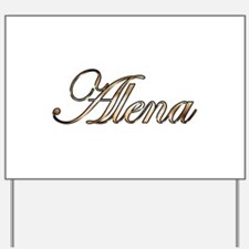Gold Alena Yard Sign