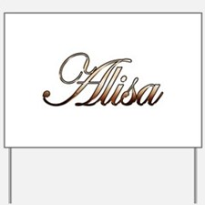 Gold Alisa Yard Sign
