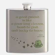 Four Leaf Clover Stainless Steel Flask